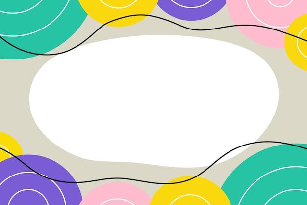 Fond géométrique abstrait minimaliste plat