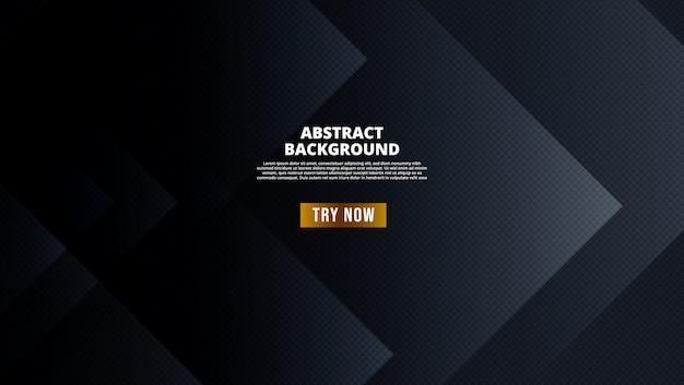 Fond géométrique abstrait noir