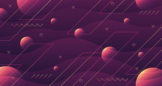 Fond géométrique abstrait ondulé