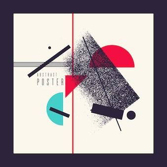 Fond géométrique abstrait rétro. l'affiche avec les figures plates. illustration vectorielle.