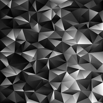 Fond géométrique abstrait en triangle irrégulier - illustration vectorielle polygone à partir de triangles gris foncé