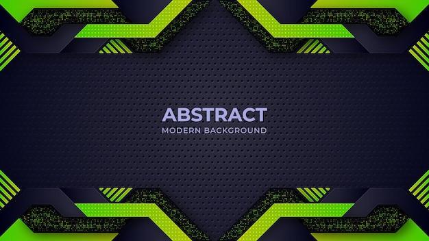 Fond géométrique abstrait vert et noir