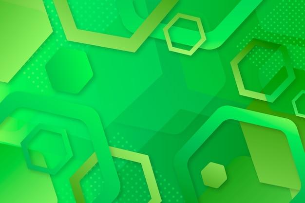 Fond géométrique abstrait vert