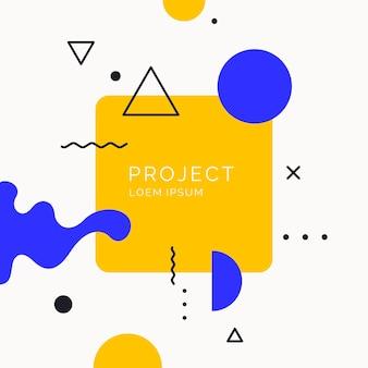 Fond géométrique art abstrait tendance avec affiche de vecteur de style plat minimaliste