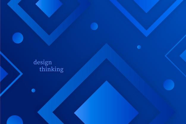 Fond géométrique bleu classique