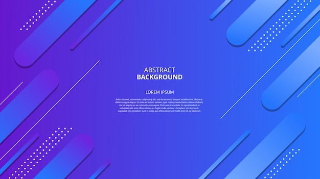 Fond géométrique bleu dégradé abstrait