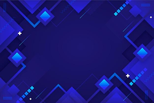 Fond géométrique bleu plat