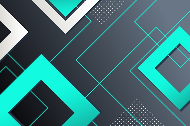 Fond géométrique de carrés abstraits