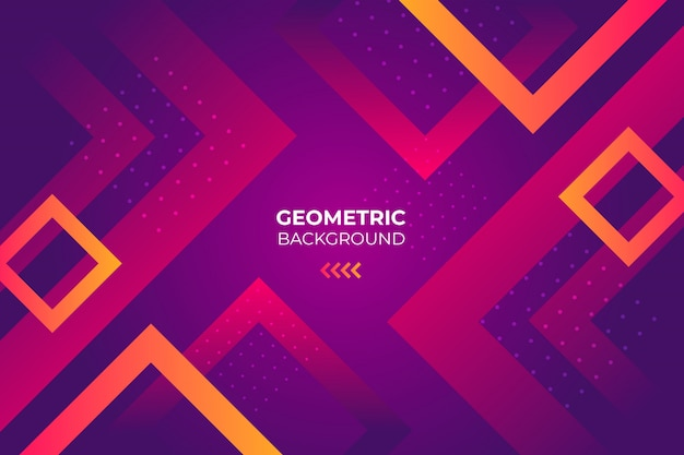 Fond géométrique avec des carrés