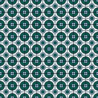 Fond géométrique avec circulaires et carrés formes