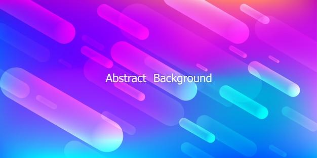 Fond géométrique coloré. composition de formes dynamiques