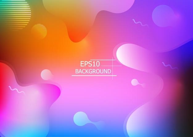 Fond géométrique coloré. composition de formes fluides. vecteur eps10 1