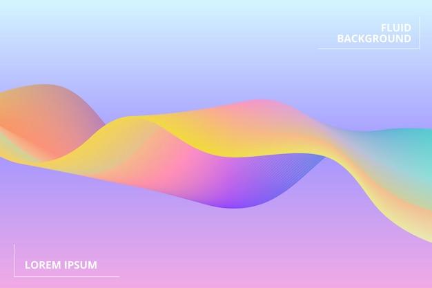 Fond géométrique coloré. composition de formes fluides