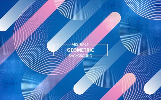Fond géométrique coloré à la mode