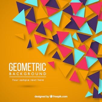 Fond géométrique coloré avec des triangles