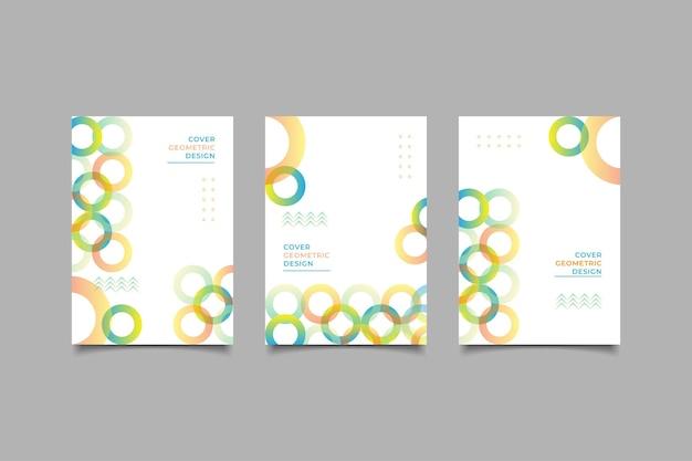 Fond géométrique de conception de couverture