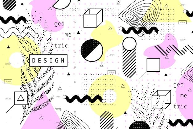 Fond géométrique de conception graphique