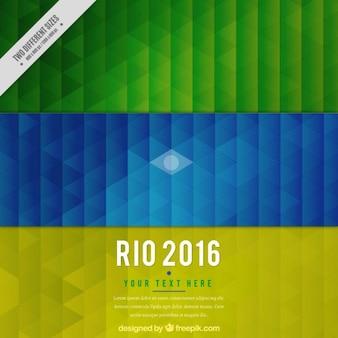 Fond géométrique avec des couleurs brazil