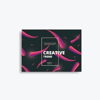 Fond géométrique avec des couleurs vives et un concept de forme dynamique.