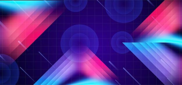 Fond géométrique créatif avec thème sci-fi futuriste néon