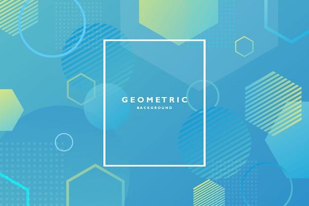 Fond géométrique créative composition de formes dégradé tendance