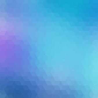 Fond géométrique dans différents tons bleus