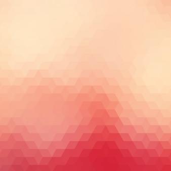 Fond géométrique dans différents tons rouges