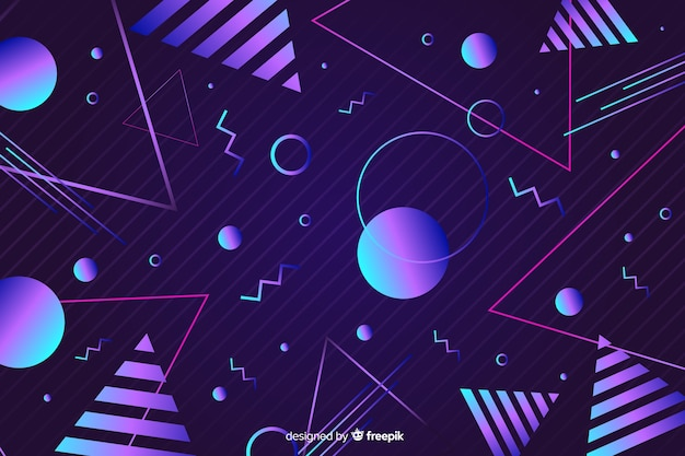 Fond géométrique dans le style des années 80