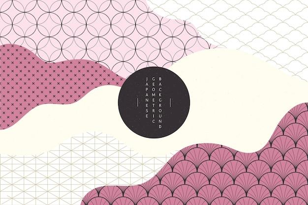 Fond géométrique dans un style japonais
