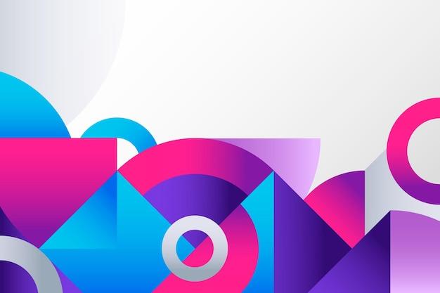 Fond géométrique dégradé coloré