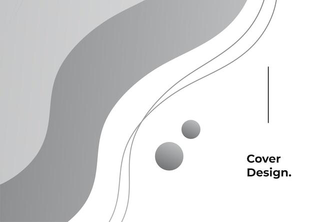 Fond géométrique avec dégradé de couleur noir et gris. abstrait minimal avec élément memphis. composition de formes dynamiques