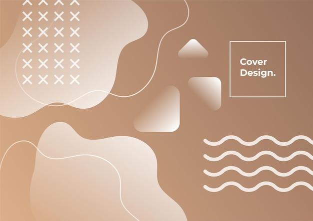 Fond géométrique dégradé de couleur terre. abstrait minimal avec élément memphis. composition de formes dynamiques