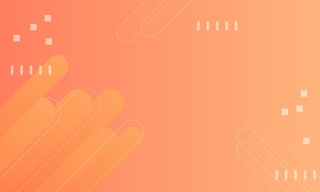 Fond géométrique dégradé orange. conception pour votre annonce d'entreprise.