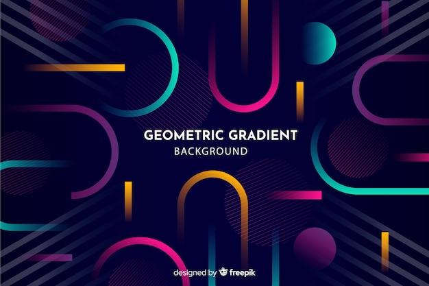 Fond géométrique avec des dégradés