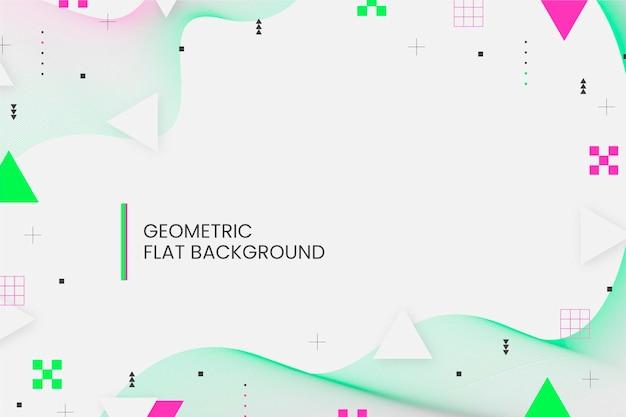 Fond géométrique design plat