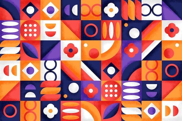 Fond géométrique avec différentes formes