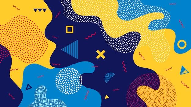 Fond géométrique enfants dessin animé couleur splash