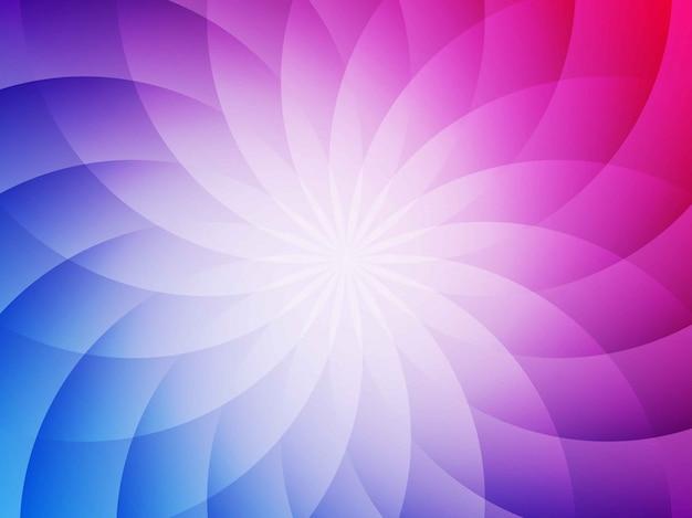 Fond géométrique fleur rouge et bleu