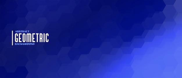 Fond géométrique de forme hexagonale bleue élégante