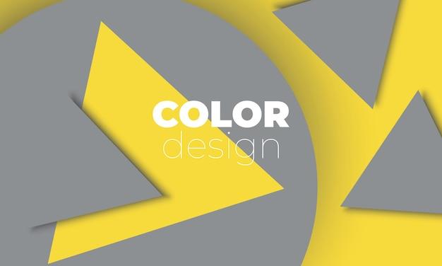 Fond géométrique formes géométriques jaunes et grises affiche de couleurs tendance.