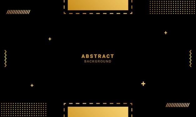 Fond géométrique avec des formes d'or, papier peint de style memphis