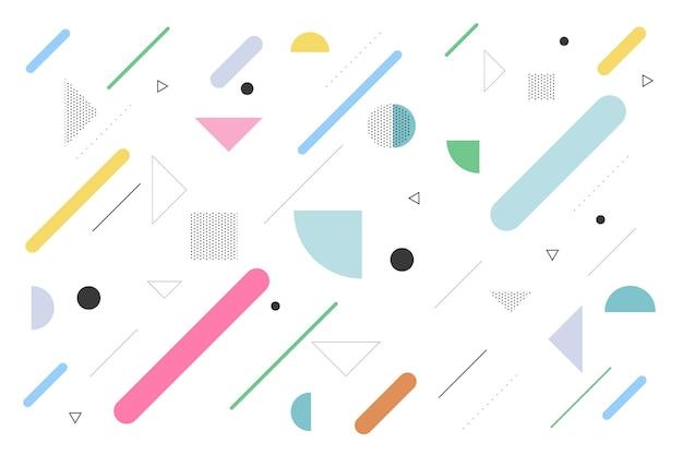Fond géométrique avec des formes plates