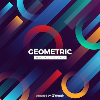 Fond géométrique avec des gradients