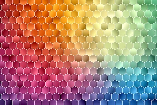 Fond géométrique hexagonal. fond d'écran polygone. modèle sans couture hexagonale.
