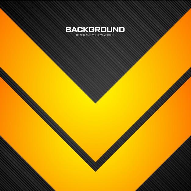 Fond géométrique jaune et noir