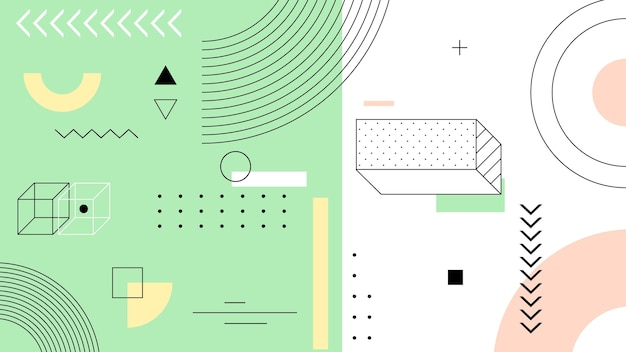 Fond géométrique avec des lignes et des formes