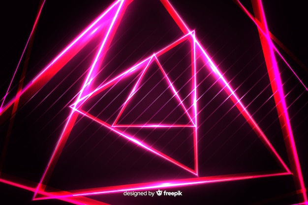 Fond géométrique de lumières rouges