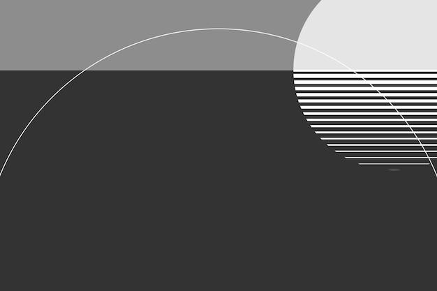 Fond géométrique de la lune en niveaux de gris