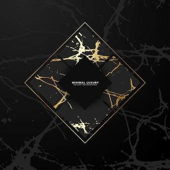 Fond géométrique de marbre doré