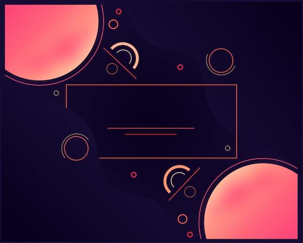 Fond géométrique minimal. composition de formes dynamiques.